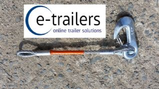 315mm Secondary Coupling Safety Cable for all unbraked trailers - Stay Legal trailer saftey cable